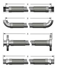 Measuring metal hose assemblies