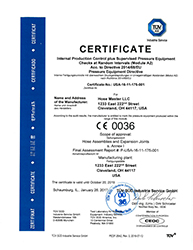 PED-Module A2 Certificate (1-2017 to 10-2019)